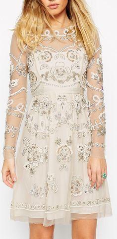 embellished garden dress