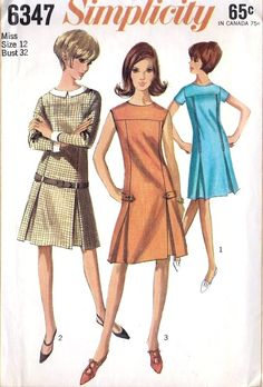 1965 Misses Dress Vintage Sewing Pattern,