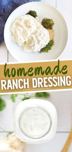 Making your own Homemade Ranch Dressing is easier than you think and it definitely tastes better than store brought ones. This pretty versatile dip has a pure and tangy flavor, perfect for those oily finger foods to munch on gameday! Save this recipe for later.