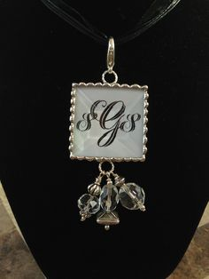Your Monogram on the back of a Sassy and Southern photo pendant!    www.sassyandsouthern.com