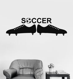 Wall Vinyl Sticker Soccer Ball European Football Team Sports Man Decor (ig3061)