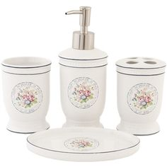 French A La Rose Bathroom Accessories Set 24 95 Http Www Lovefromrosie