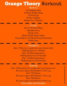 Workout Exercise Orange Theory Inspired Workouts - An Orange Theory HIIT workout for times when you cannot make it to a class or it's just not in your budget to join an OT. Fitness Workouts, Treadmill Workouts, Running On Treadmill, Fun Workouts, At Home Workouts, Circuit Training Workouts, Fitness Plan, La Fitness Gym, Group Workouts