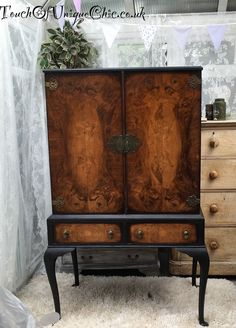 Stunning Vintage French Style Drinks Cabinet, Linen Cupboard, Tallboy,Drawers | eBay