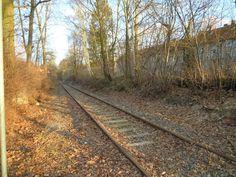 Train tracks in Braunschweig, Germany