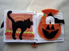 Boo Quiet Book - Cat and Pumpkin