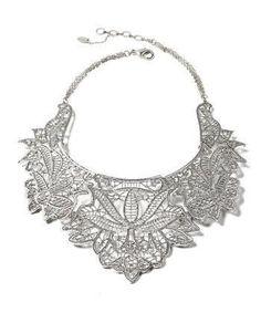 Gold-tone Athena Bib Necklace
