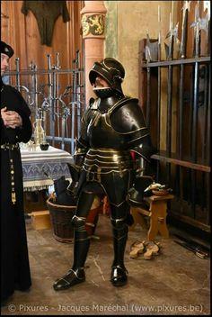 German knigjt blackned  armor  brass 15th century sallet helmet medieval armor