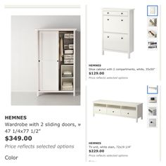 IKEA mudroom ideas. Wardrobes on ends with shelf across and a cushion. Use TV center to sit on. IKEA hack starter