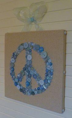 Peace sign button art!