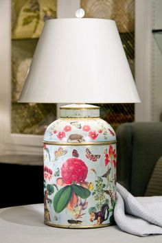 Decoupage Lamp  www.bensoninteriors.com