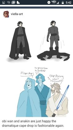 I find it ironic because Kylo is named Ben after Obi-Wan and he pulls an Obi-Wan and drops his robe before the fight xD