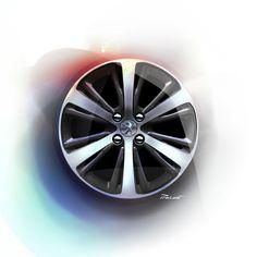 Peugeot 208 GTi Wheel Design Sketch