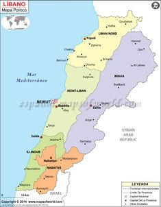 Lebanon culture lebanese pinterest lebanon culture and beirut political map of lebanon illustrates the surrounding countries with international borders 6 governorates boundaries with their capitals and the national gumiabroncs Images
