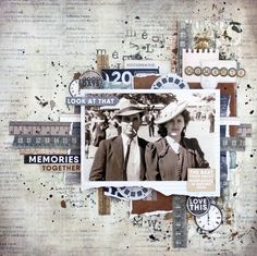 This layout was created for Kaisercraft using the Documented Collection. Layout was created by Renee Aslette. Heritage Scrapbook Pages, Vintage Scrapbook, Scrapbook Page Layouts, Scrapbook Designs, Old Photos, Vintage Photos, Vintage Ideas, Alphabet Stamps, Kids Toms