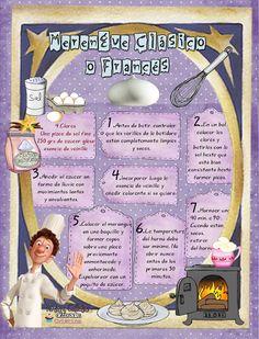 Great idea for scarp booking recipes! Meringue Cookies, Cupcake Cookies, Bakery Recipes, Snack Recipes, Cartoon Recipe, Icing Frosting, Food Humor, Cake Tutorial, Food Illustrations