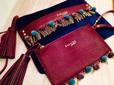 Buboisé blue and burgundy clutches, Velvet collection #buboisé #buboisébag #velvet #collection #new #borsa #pochette #bordeaux #blu #madeinitaly #luxury #quality #handcrafted #leather #bag #fallwinter #inverno #2015 #2016 #velluto