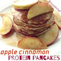 Ripped Recipes - Apple Cinnamon Protein Pancakes - A healthy, filling, and DELICIOUS breakfast choice!