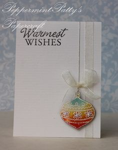 VersaMark embossed in white. Colors sponged. I like the elegant simplicity of this card.