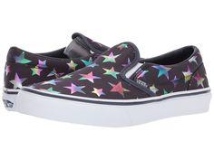 Vans Kids Classic Slip-On (Little Kid/Big Kid) Girl's Shoes (Foil Stars) Parisian Night