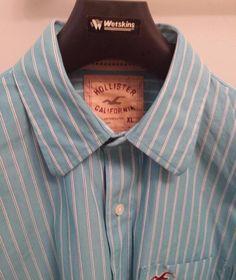 Hollister California multicolor Striped Long Sleeve Men s casual Shirt Size XL
