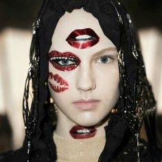 """inthenewyorkgroove:  """" Again and again and again @patmcgrathreal makeup for @jgalliano @maisonmargiela January 2016, hair by @eugenesouleiman  #makeupbypatmcgrath #patmcgrath #makeup #MakeupArtist #fashionmakeup #maisonmargiela #maisonmartinmargiela..."""