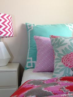 cushion love, and Custom Cushions, Room Inspiration, Boy Or Girl, Bedrooms, Bedroom Decor, Lounge, Mint, Interiors, Blanket