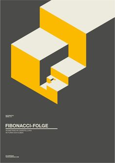 Fibonacci poster by Exergian. Via Exergian.