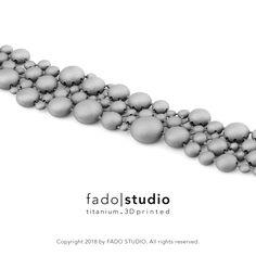 3D printed titanium jewellery by Fado Studio | Copyright 2018 #3Dprinted #titanium #jewellery #jewelry #fadostudio #fado|studio #3dprinted.titanium #bracelet #futorganic #modular #unique
