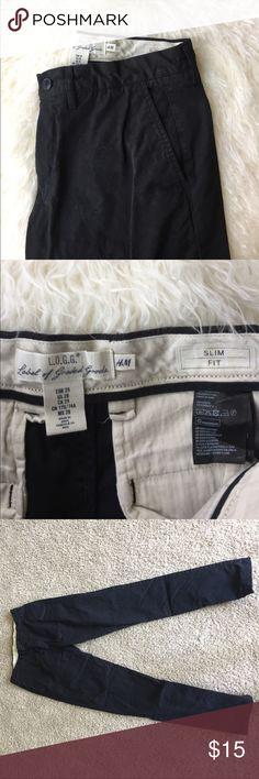 Men slim fit cargo pants Great condition H&M Pants Cargo