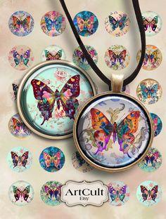 Digital Download for Jewelry and Scrapbook Making Batik Print 18 x 25mm Teardrop Digital Collage