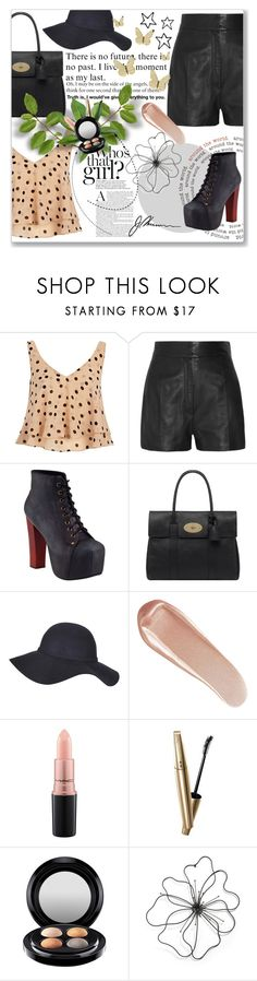 """""""Wolf Moon"""" by seaturtle-19 ❤ liked on Polyvore featuring River Island, Valentino, Jeffrey Campbell, Mulberry, Gathering Eye, NARS Cosmetics, MAC Cosmetics and VOV"""