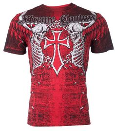 Xtreme Couture AFFLICTION Mens T-Shirt AFTERSHOCK Tattoo Biker MMA UFC S-3XL $40 #Affliction #GraphicTee