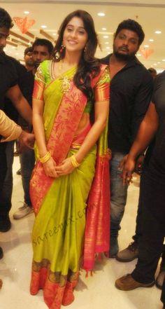 Actress-Regina-in-silk-saree-pic