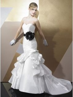 Mermaid Sweetheart Taffeta Bridal Gown