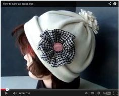 How to Sew a Fleece Hat....video tutorial for really easy-to-make hat                                                                                                                                                                                 More