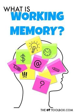 Learn about what working memory is and activities that can help improve it. Great resource to find some fun strategies to help kids improve their working memory through play and games. Fun Learning, Learning Activities, Learning Theory, Learning Styles, Games To Improve Memory, Memory Games, Memory Strategies, Brain Memory, Sensory Processing Disorder
