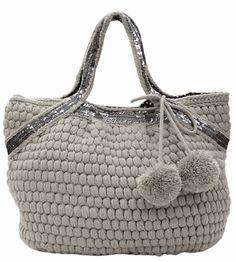 Bobble crochet purse