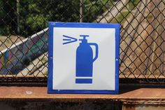 Enamel Sign  Vintage Fire Extinguisher Tin Sign  by NarMag on Etsy