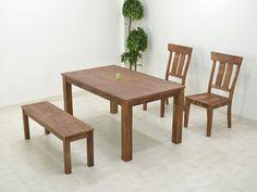 Dining Table ダイニングテーブルセット4点ベンチ150無垢板アンティーク調west 北欧 インテリア 雑貨 家具 Modern ¥54300yen 〆11月20日