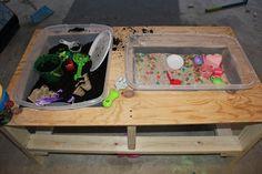 Momma's Fun World: Home made sensory table