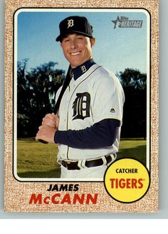 2017 Topps Heritage Baseball 242 James McCann - Detroit Tigers | Sports Mem, Cards & Fan Shop, Sports Trading Cards, Baseball Cards | eBay!