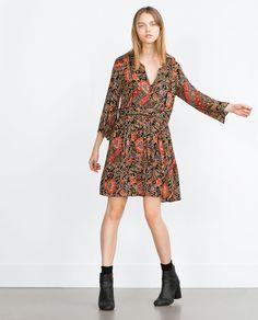 PRINTED DRESS (floral quarter sleeve 7521/236) $49.90 | Zara
