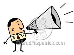 man with megaphone - Google Search