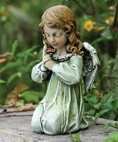 Look at this #zulilyfind! Kneeling Angel Statue #zulilyfinds
