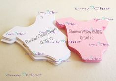 "40 Personalized Baby Bodysuit Tag Size 1.50"" In Non-textured or Textured Cardstock paper by CurlynChic on Etsy https://www.etsy.com/listing/153184989/40-personalized-baby-bodysuit-tag-size"