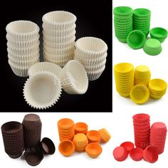 NEW 600Pcs Muffin Cupcake Baking Cups Cases Paper Liners Cake Deco S Sz 6 Colors