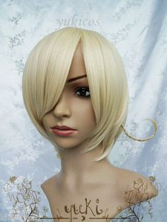 free shipping APH Axis Powers Hetalia Norway Cosplay Costume Wig cosplay wigs short blonde wig