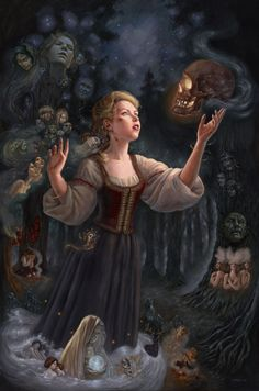 "fairytalemood:    ""Vasilisa"" by Mia Araujo    One of my favorite folk stories."