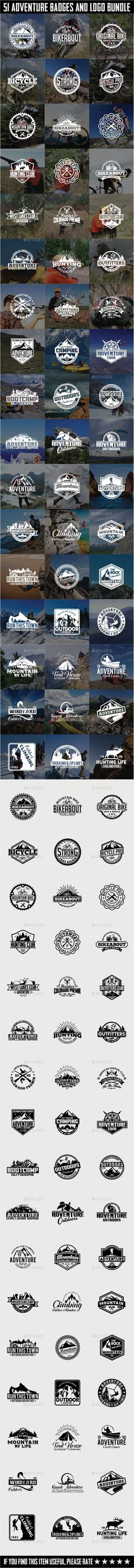 51 Adventure Badges and Logos Bundle Template #design Download: http://graphicriver.net/item/51-adventure-badges-and-logos-bundle/12395442?ref=ksioks